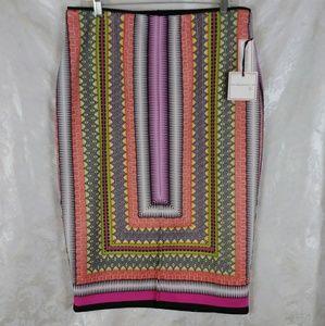 Bisou Bisou Scarf Print Pencil Skirt